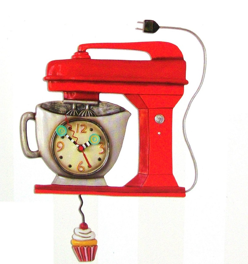 mixer red wall clock allen designs kitchen whimsical wall clock ebay