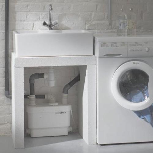 Bathroom sink drain removal - Saniflo Depot Upflush Toilets Saniflo Sanivite Gray