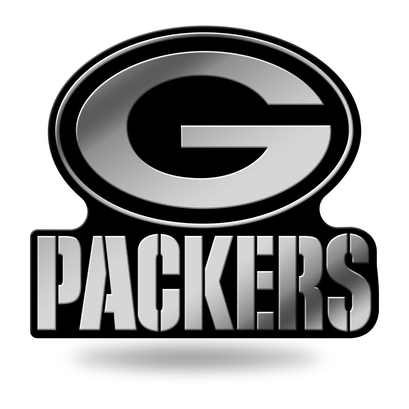 Green Bay Packers Logo 3d Chrome Auto Emblem New Truck Or Car 94746935191 Ebay