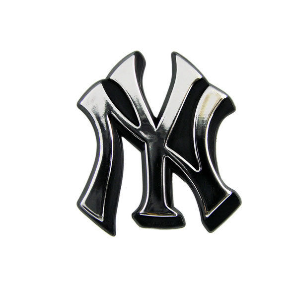 New York Yankees Logo 3D Chrome Auto Decal Sticker NEW Truck Or Car Jeter