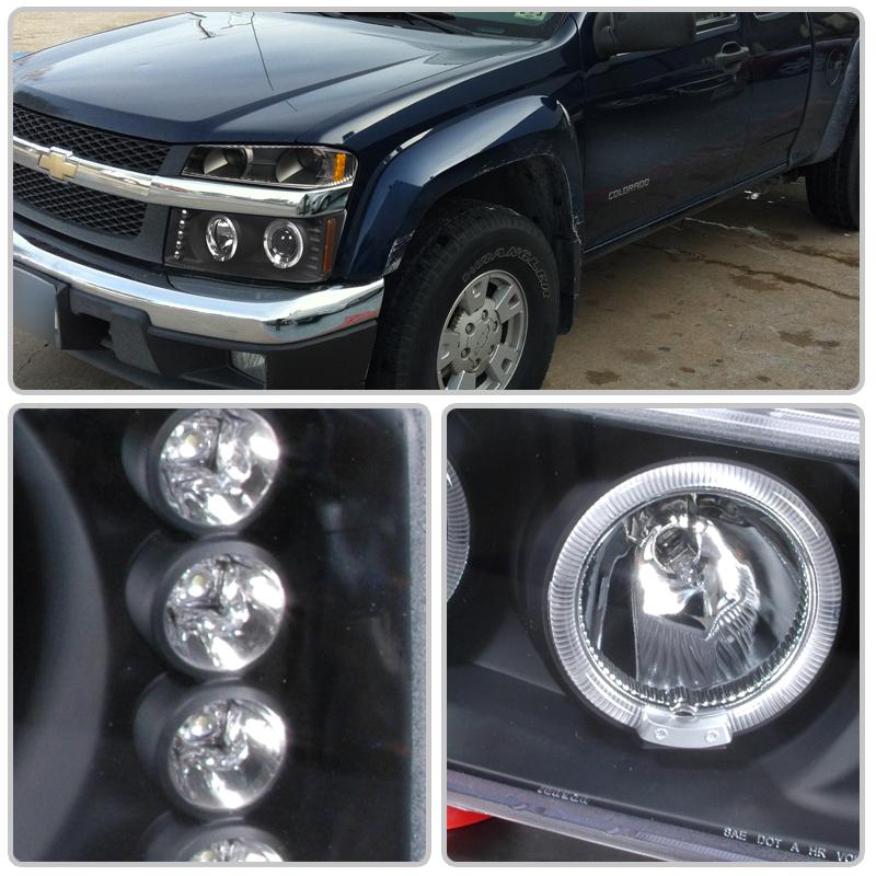 04-12 Chevy Colorado GMC Canyon Halo LED Projector