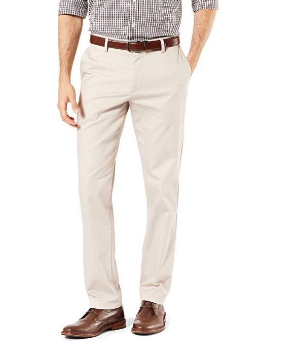 Dockers Mens Slim Fit Trouser with Stretch Waistband