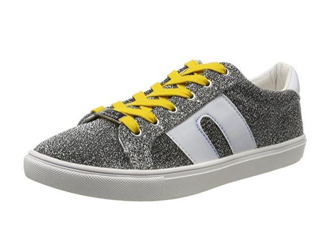 a2de0298091 Details about Steve Madden Women's Sm1 Fashion Sneaker, Silver/Multi, 7.5 M  US