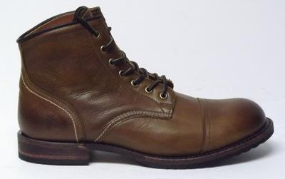 $398 Frye Mens Logan Cap Toe Leather Lace-up Boots Cognac #87917 ...