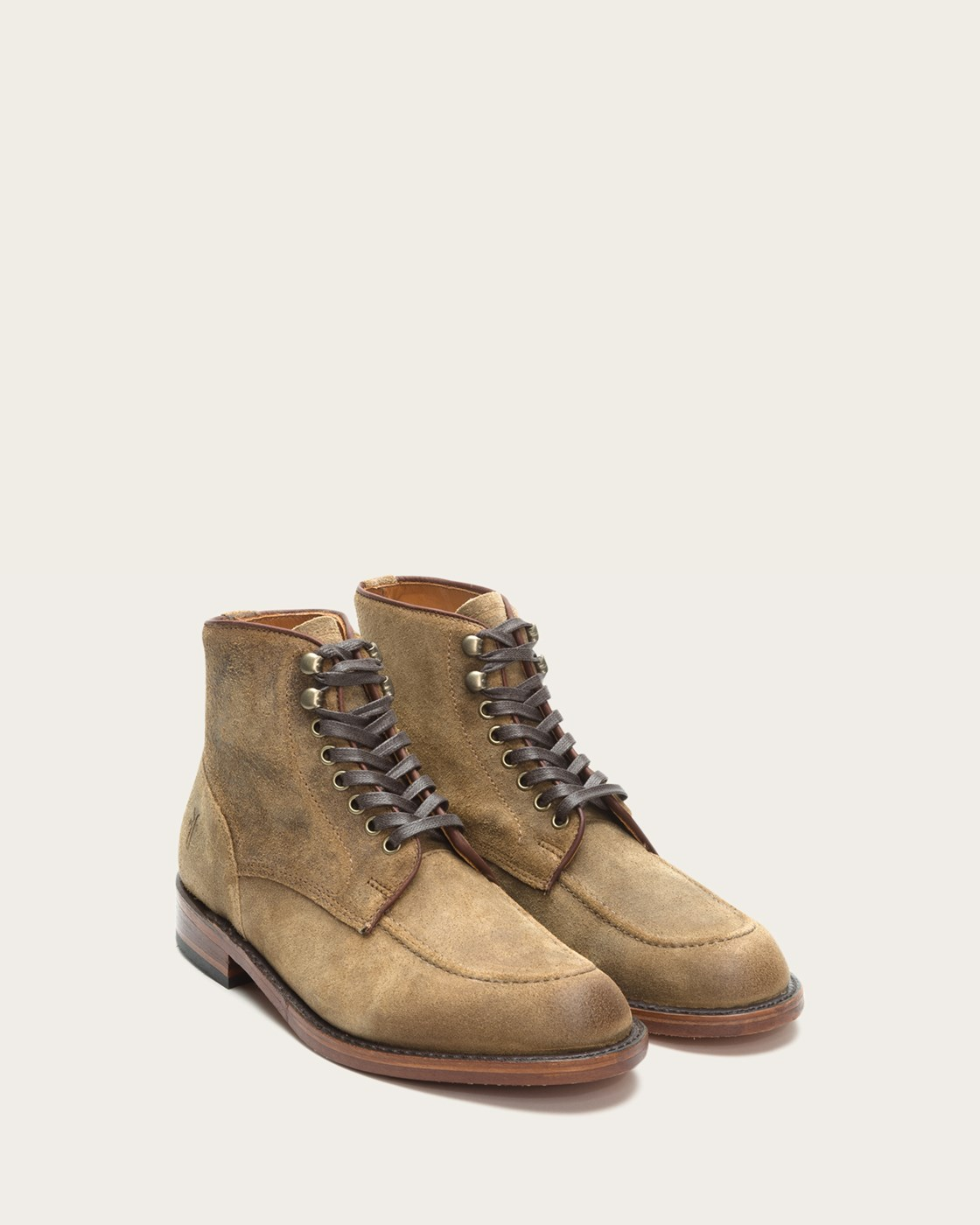 frye mens walter lace up 87169 waxed suede leather boots