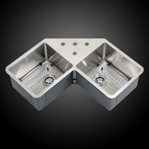 Undermount Corner Kitchen Sinks Stainless Steel : ... 36