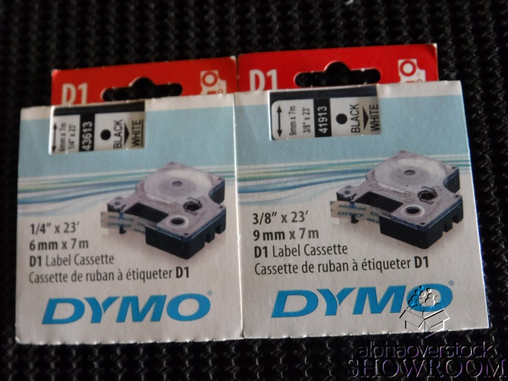2 New Genuine OEM Dymo D1 Label Cassettes Blk/Wht
