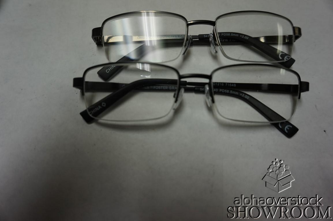 2 Pack Fashion Reader Design Optics Glasses (+3.00
