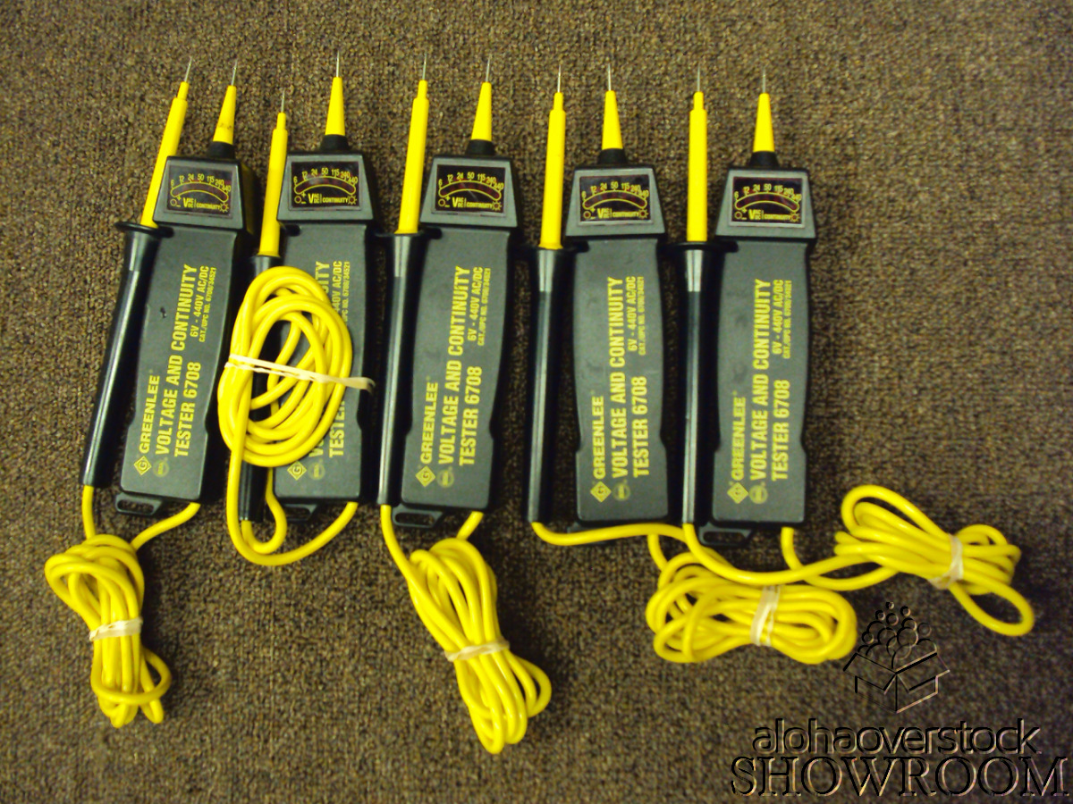 Greenlee Electrical Tester : Lot of untested greenlee voltage continuity tester