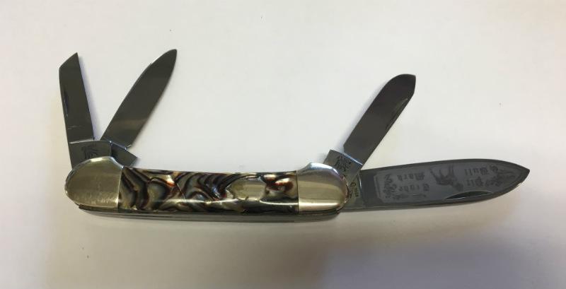 1998 Bulldog Pitbull Etched 4 Blade Folding Knife Solingen Germany Ebay