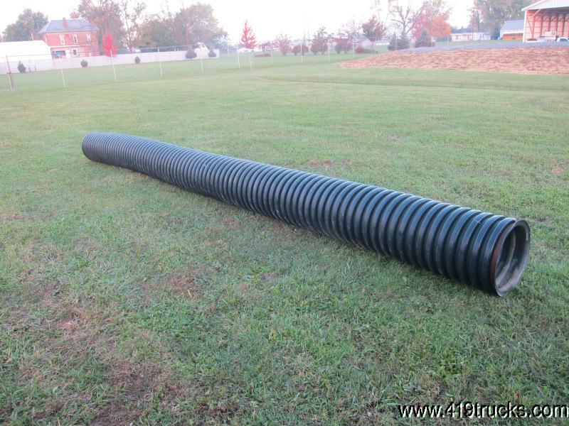 Black plastic corrugated ditch culvert pipe quot inch