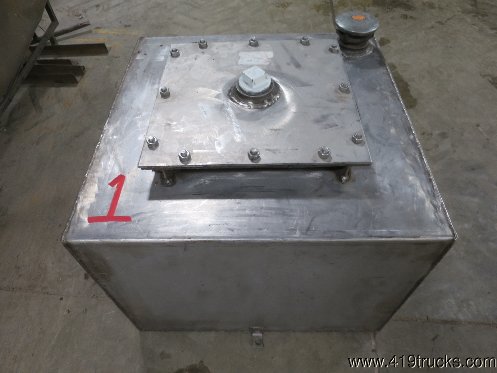 45 Gallon Stainless Steel Lube Fuel Oil Waste Grease Skid Tank