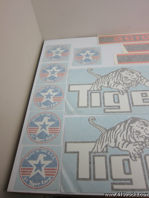 Tiger Ford 6610 Flail Mower Deck Vinyl Decals Safety