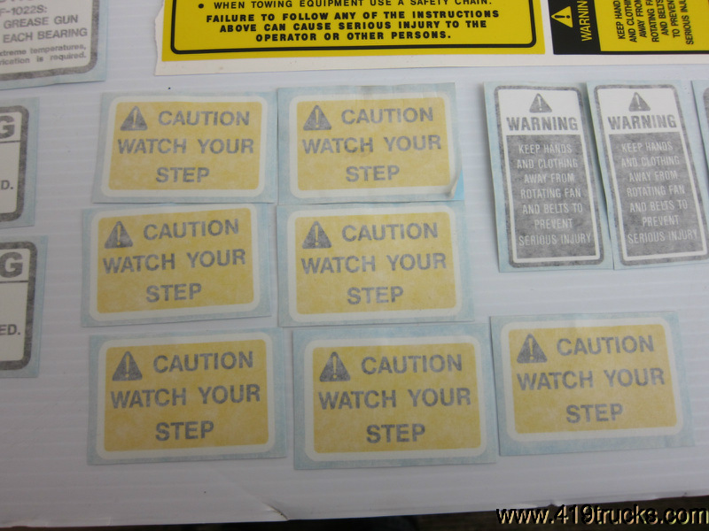 TIGER FORD 6610 FLAIL MOWER DECK VINYL DECALS SAFETY WARNING