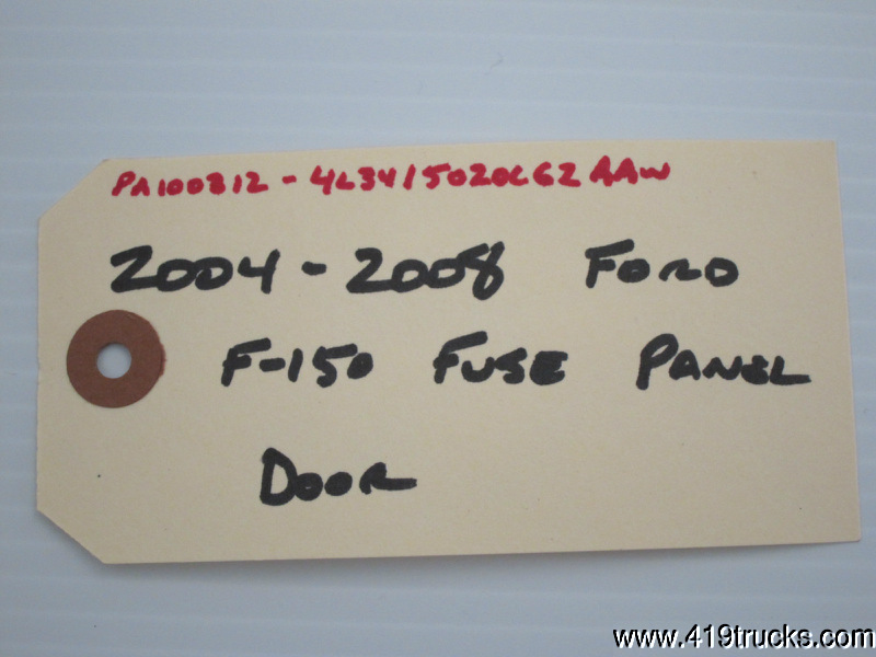 2004 2008 ford f150 f 150 fuse panel door kenlugibihlauto. Black Bedroom Furniture Sets. Home Design Ideas