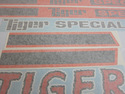 TIGER FORD 6610 FLAIL MOWER DECK VINYL DECALS SAFE