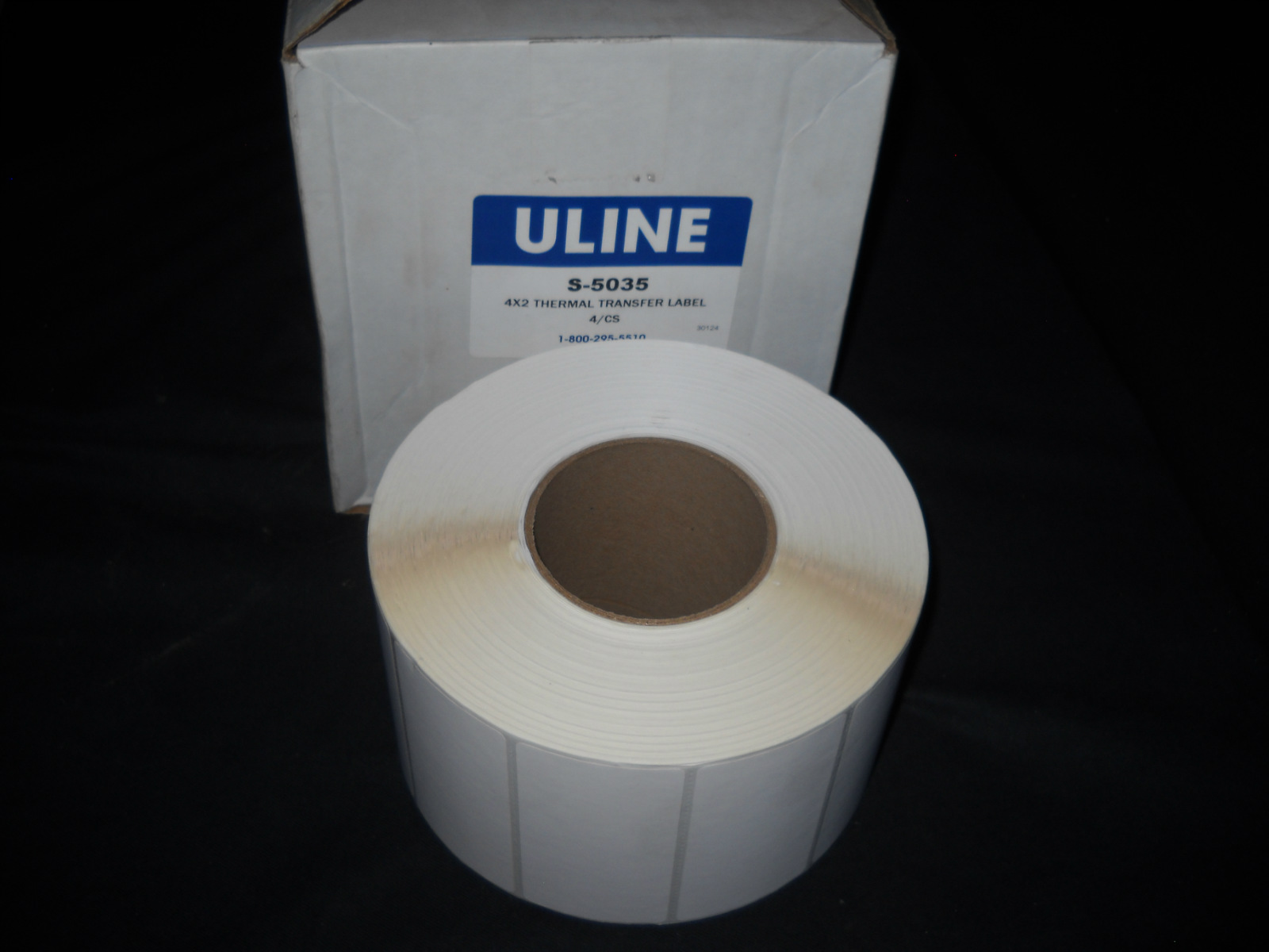 "New Uline 4 x 2"" Thermal Transfer Label Roll (2,75"