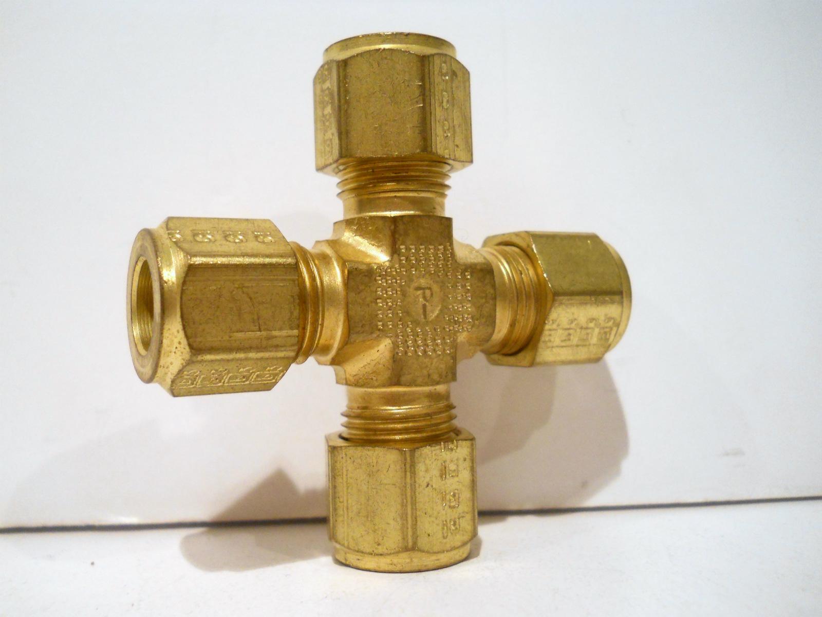 New parker brass quot tube cpi compression cross union