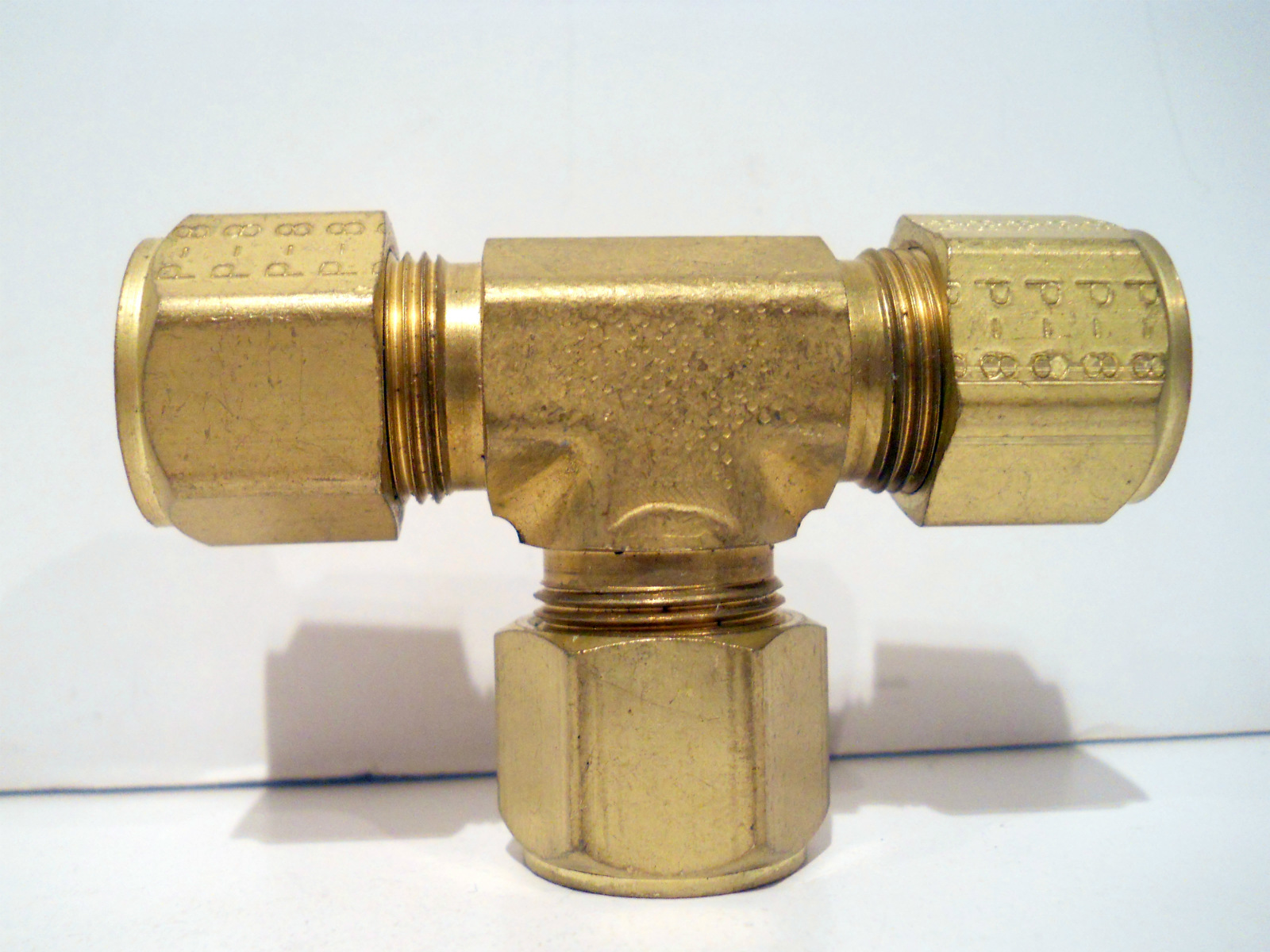 New parker brass quot tube cpi compression fitting union