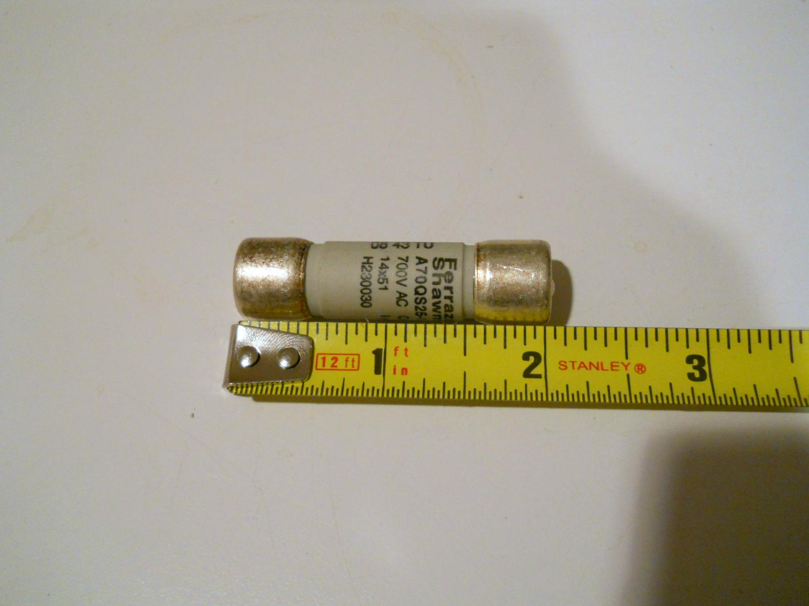 new ferraz shawmut 25a amp trap french cylindrical fuse w