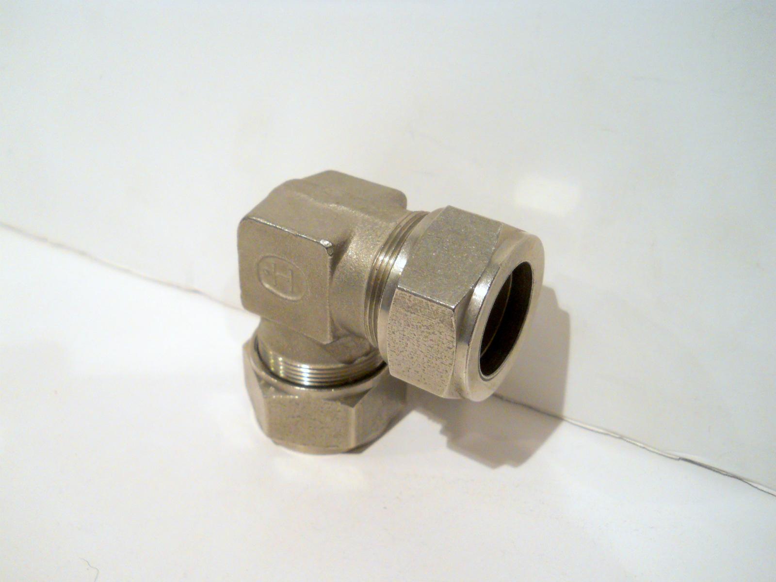 New hoke gyrolok stainless steel quot tube o d union elbow