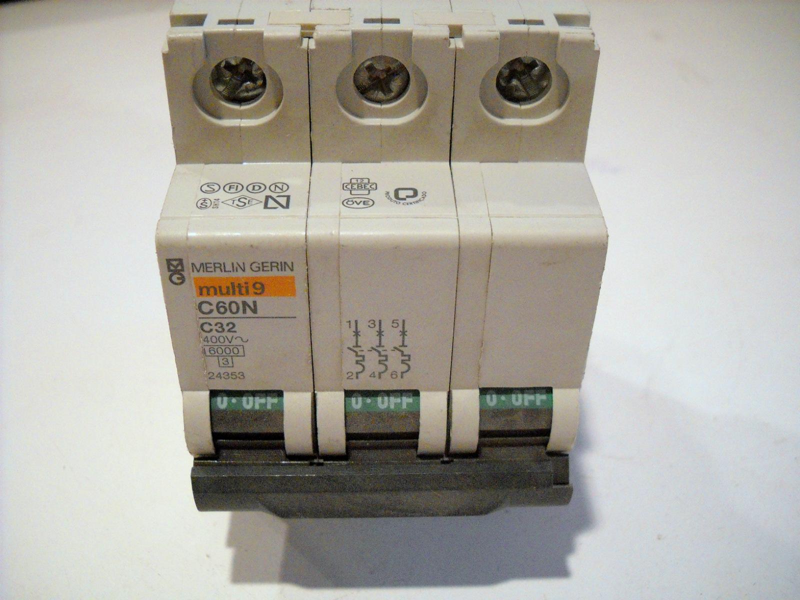 New merlin gerin multi 9 circuit breaker 3 pole 32a 400v - Merlin gerin multi 9 ...