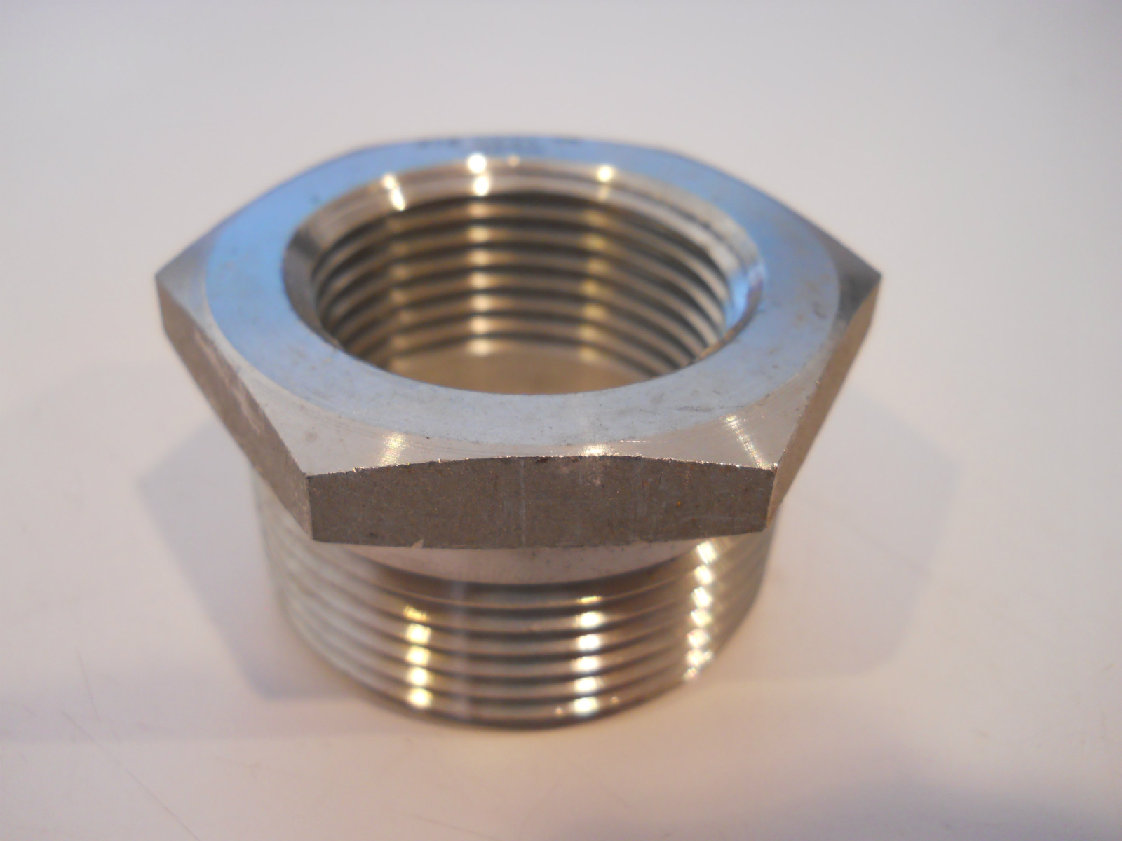 Threaded stainless steel hex bushing pipe ss