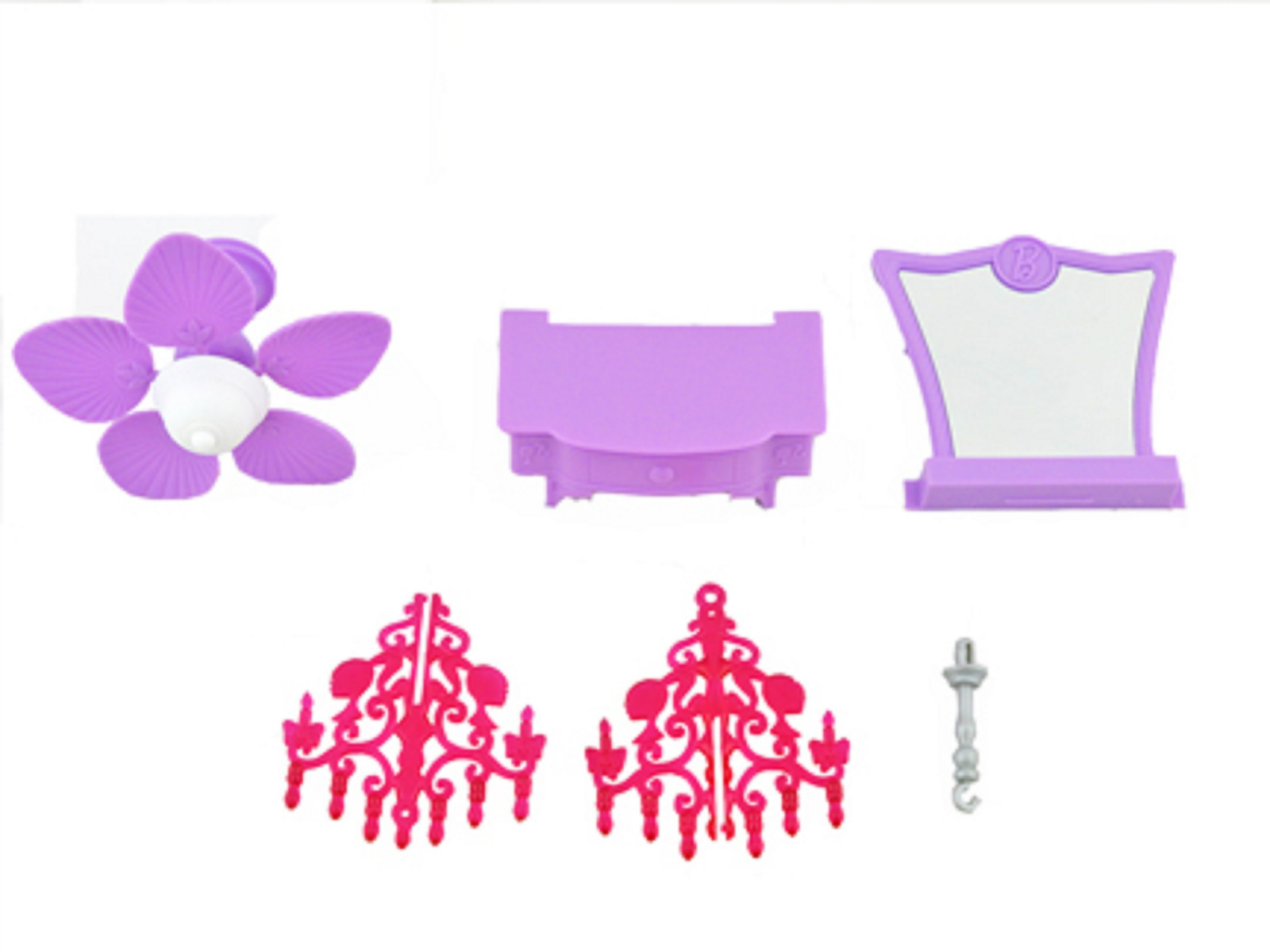 Barbie Malibu Dreamhouse Dream House Replacement Parts Vanity Chandelier Fan