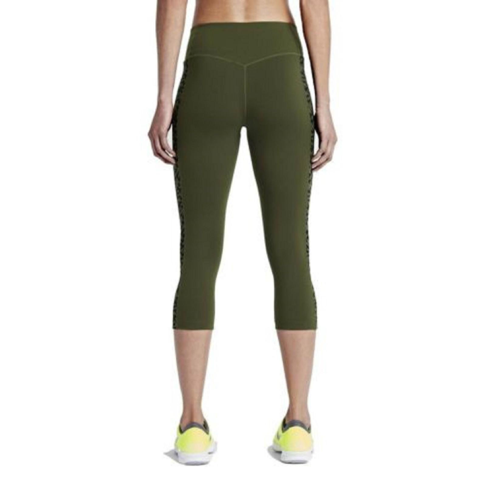 Nike Dri Fit Women's $90 Legendary Checker Training Tights 2.0 Capris Pants  XL