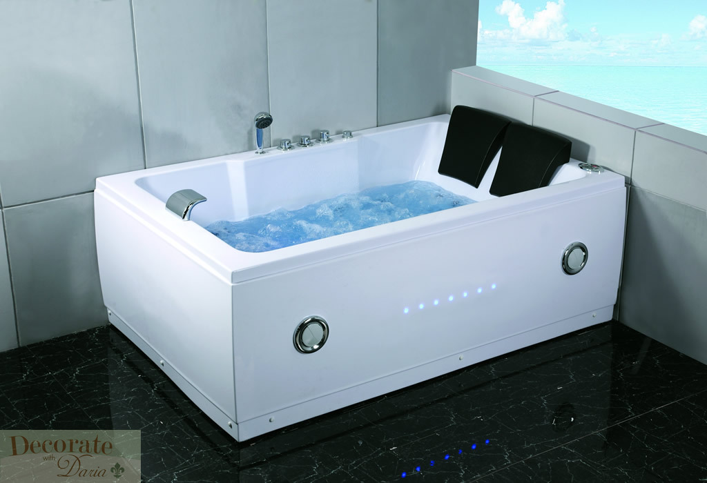 Details About 2 Person 72 L Bathtub Whirlpool Tub Spa Hydrotherapy Mage 14 Jets White New