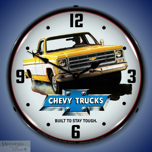 Truck 1979 Two Tone Pickup Chevrolet Wall Clock 14 Quot Led