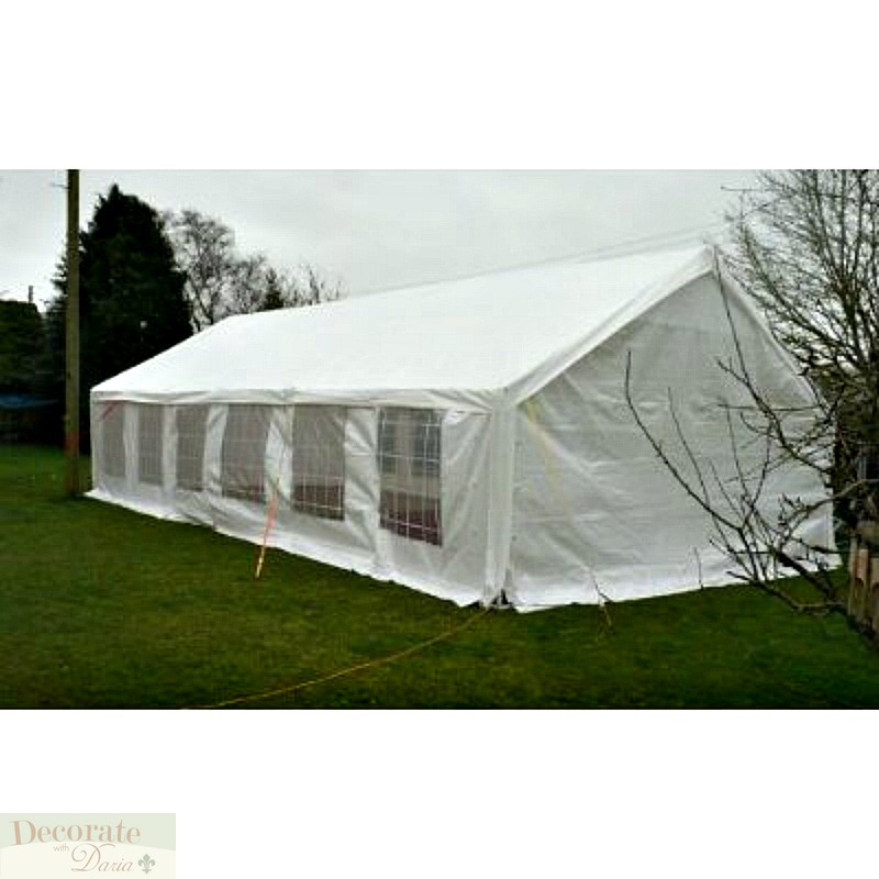 TENT HUGE 20'x 40' PARTY Canopy Wedding Gazebo Reunion Carport Shelter White New, Decorate With ...
