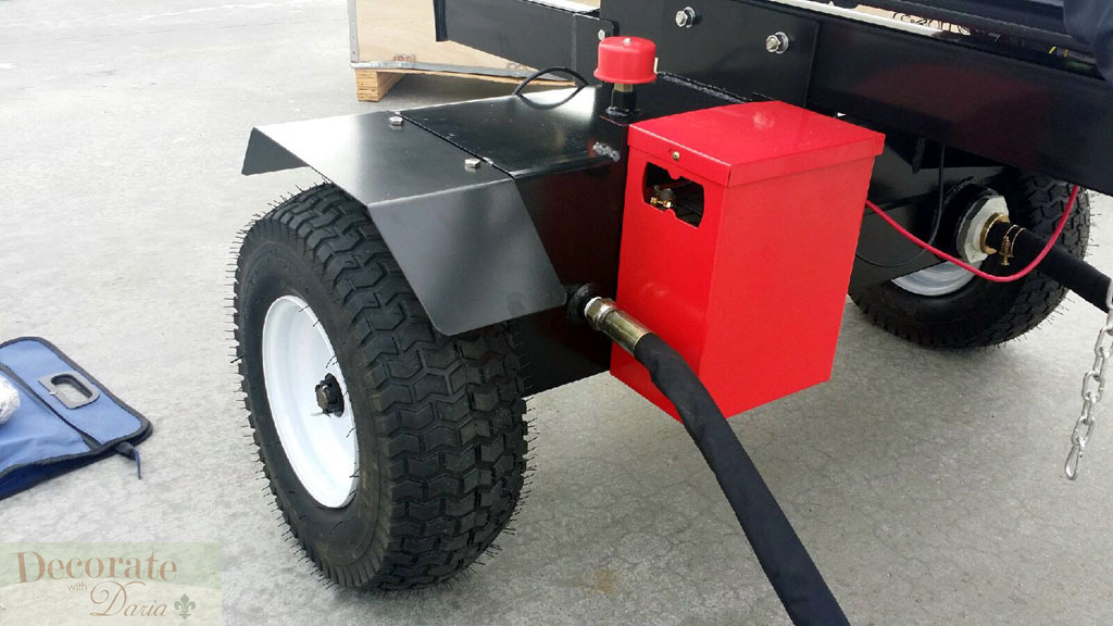 50 Ton Log Wood Splitter 15hp Gas Engine Hydraulic