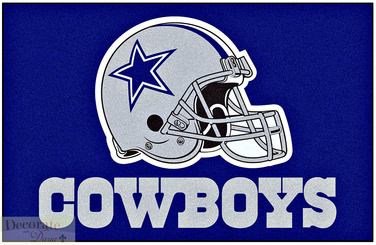 Dallas Cowboys Nfl Indoor Floor Mat 19 X 30 Starter Football Helmet Logo New Decorate With Daria