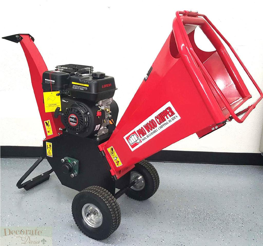 Wood Chipper Leaf Shredder Mulcher 6 5hp Gas 195cc 4