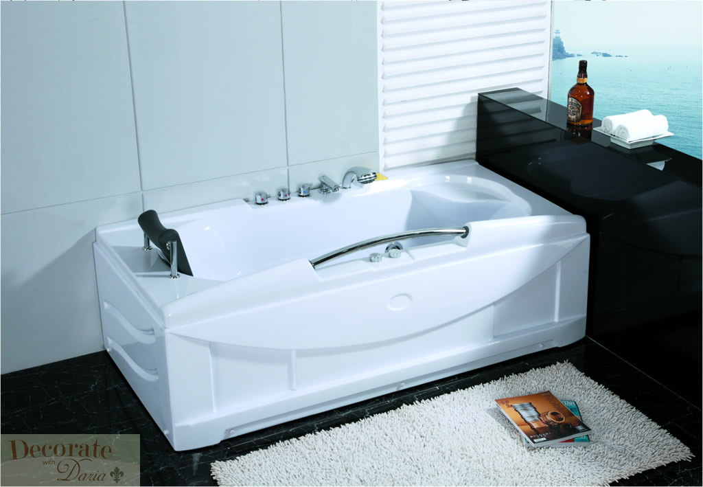 freestanding air jet tub. 66  WHITE BATHTUB WHIRLPOOL JETTED SPA Tub 19 Mass Massage Air Jets