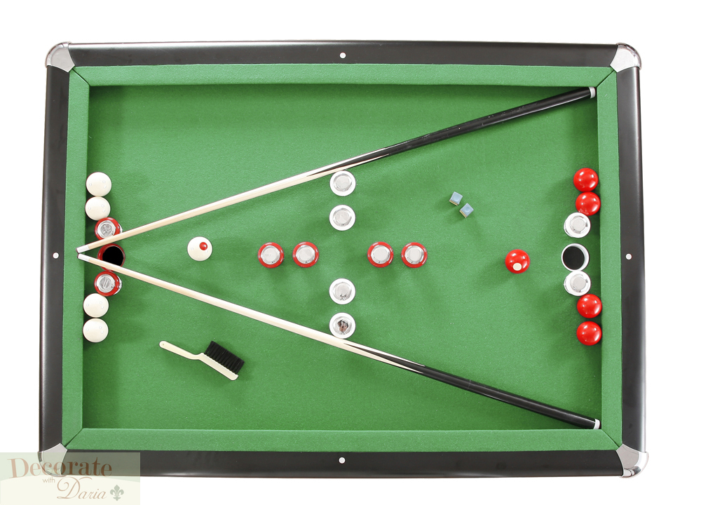 Bumper Pool Table Slate Set 54 Quot Billiards Play Game