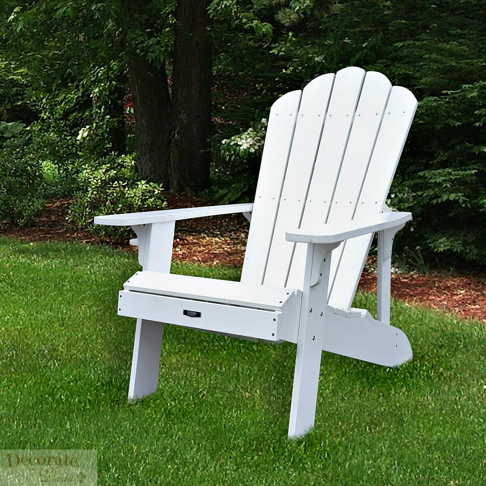 Decorate With Daria Adirondack 4 Chair Set White Solid