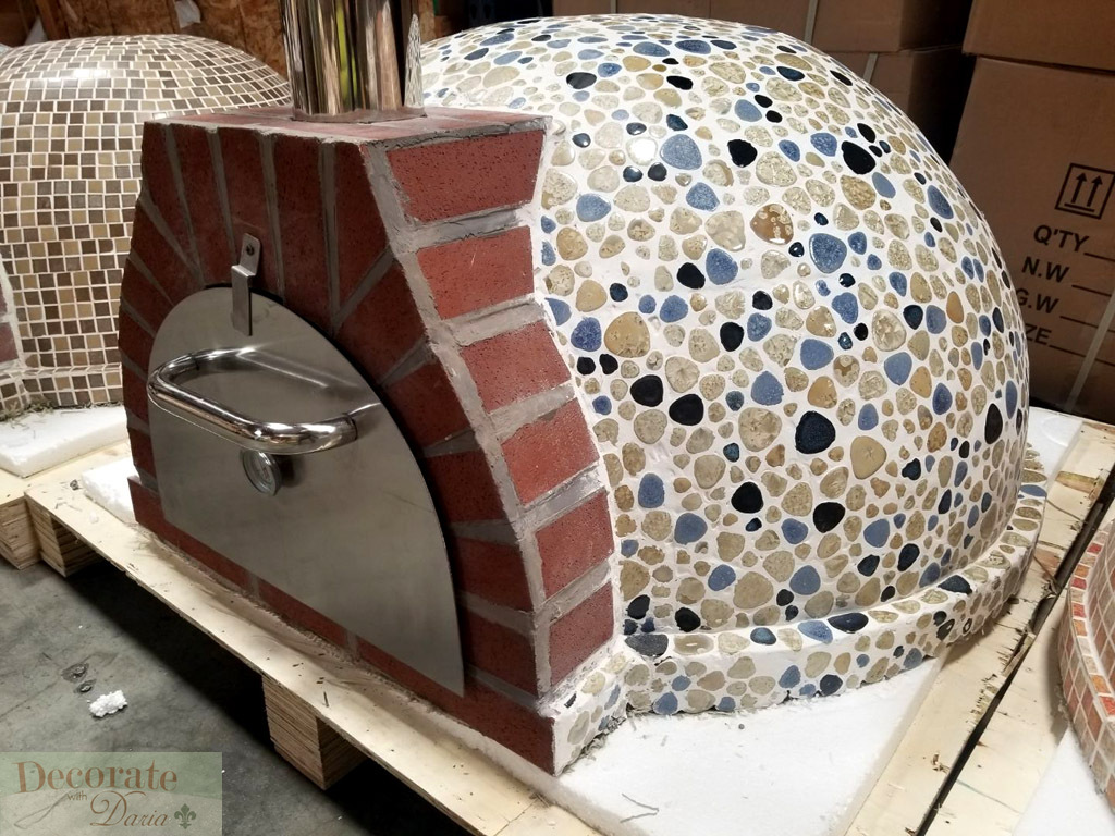 Decorate With Daria Pizza Oven Outdoor Blue Mosaic
