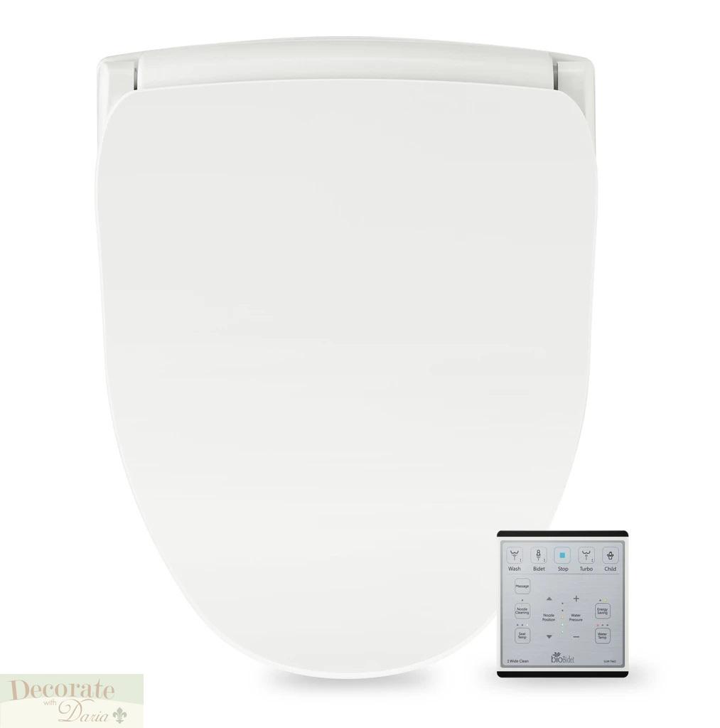 Bio Bidet Slim 2 Round Electronic Toilet Seat Heated Jet Wash Remote Night Light 795152208298 Ebay