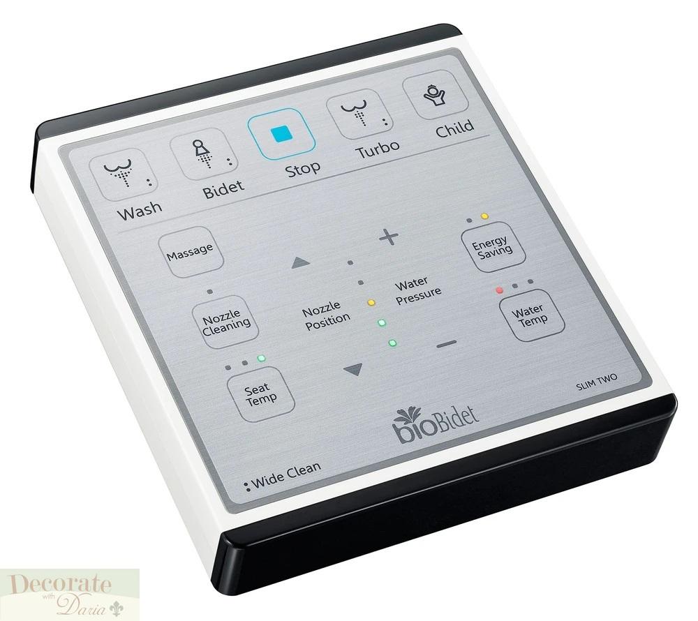 BIO BIDET SLIM 2 ELONGATED Electronic Toilet Seat Heated Wash Remote Night Light