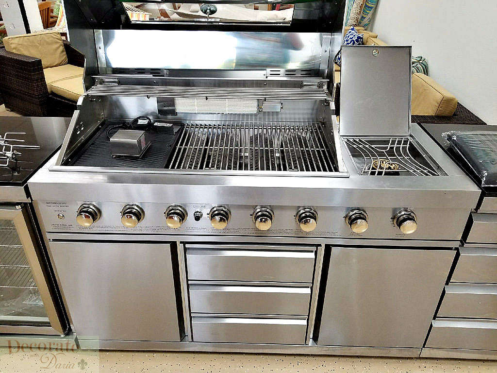 Gas Grill With Sink Opendoor