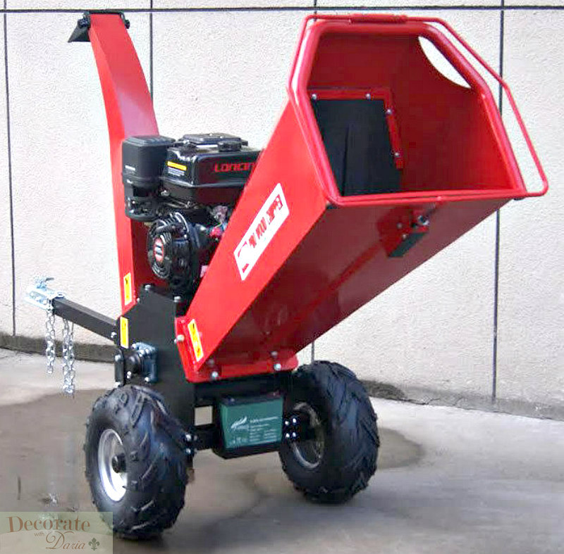 Wood Chipper Leaf Shredder Mulcher 15hp Gas 420cc Electric