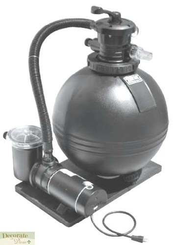 Pool Pump 1 Hp Sand Filter 19 Above Ground Ball Tank