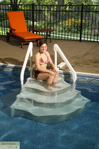 Above Ground Pool Stairs With Handrails : Decorate with daria