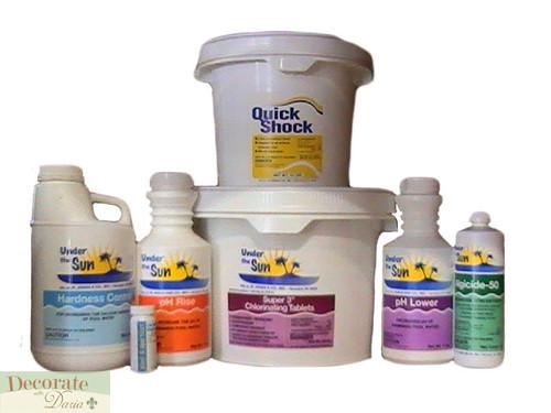 15000 Gal Pool Full Season Chemical Kit Shock Chlorine Tablets Algaecide Ph New Decorate With Daria