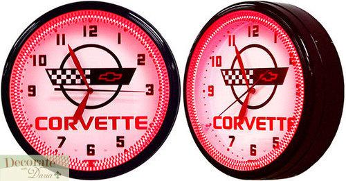 c4 corvette neon clock