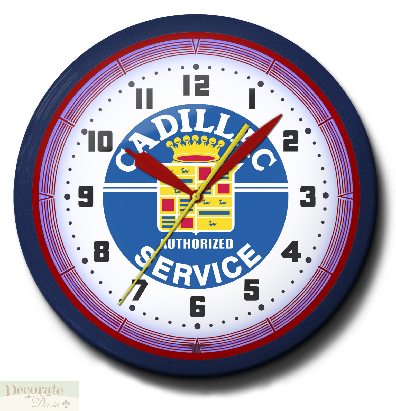 Cadillac Service Neon 20 Quot Wall Clock Car Made In The Usa