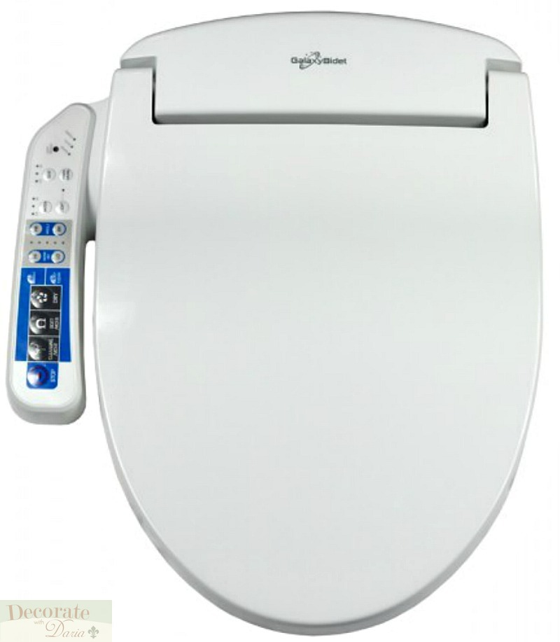 Galaxy 4000 Bidet Round Electronic Toilet Seat Panel