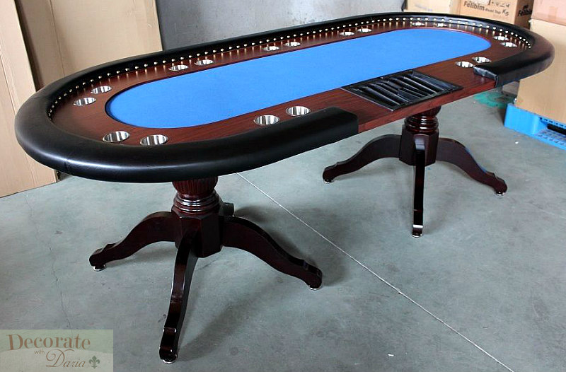 Poker table 94 solid wood 10 player texas holdem card for 10 player poker table